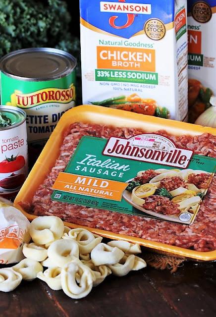Sausage Tortellini Soup Ingredients Image