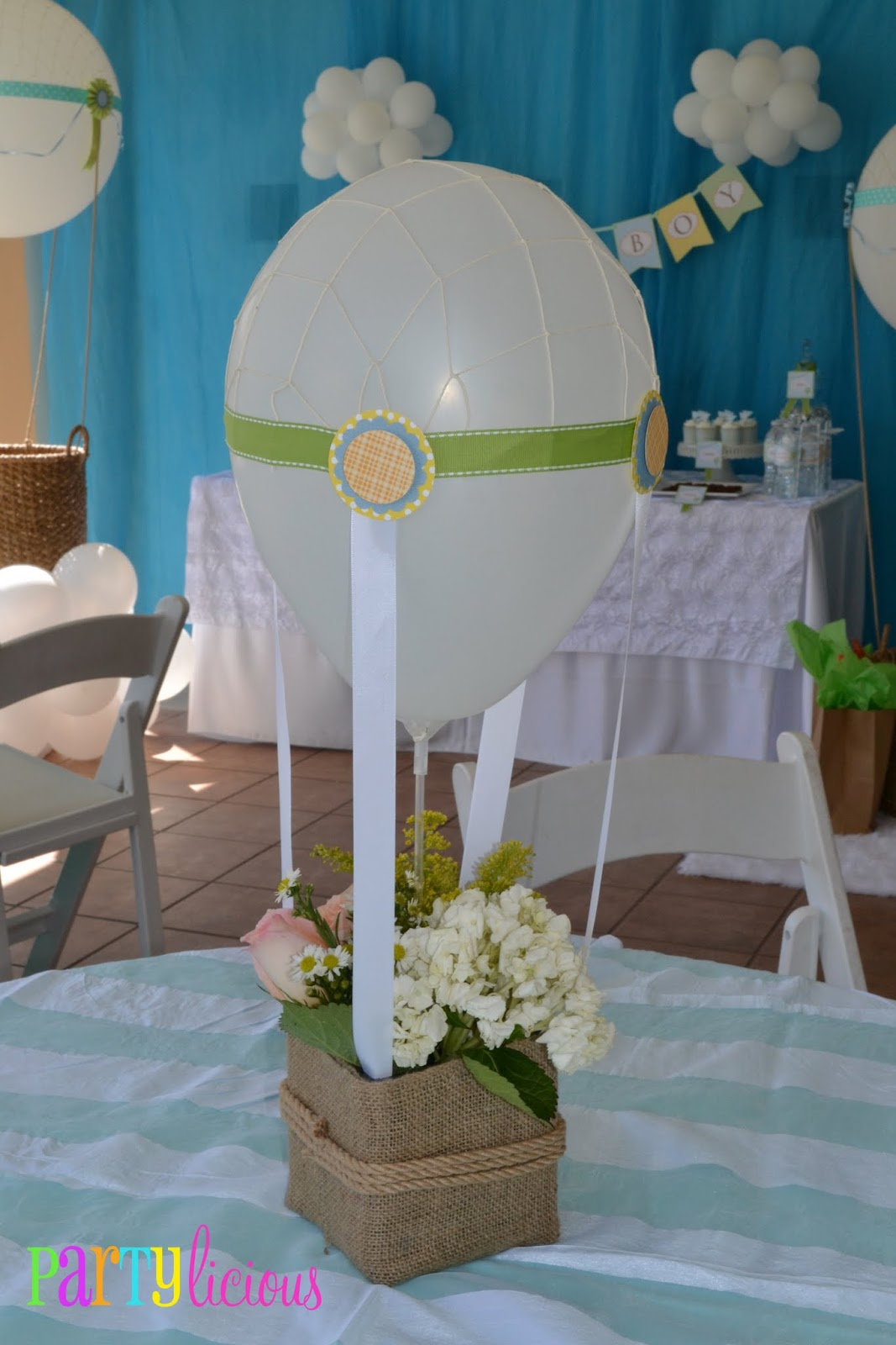 Partylicious Events Pr Up Up And Away Baby Shower