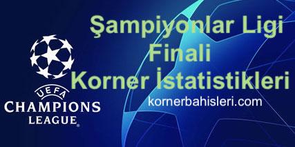 Şampiyonlar Ligi Final Maçlarının Korner Bahisleri Sayıları