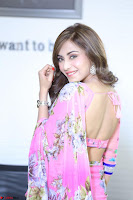 Actress Angela Krislinzki in Pink Saree Blouse Exclusive Pics March 2017 ~  093.JPG