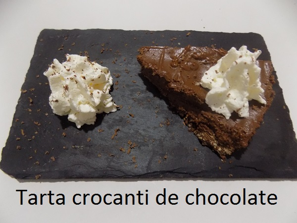 Tarta crocanti de chocolate