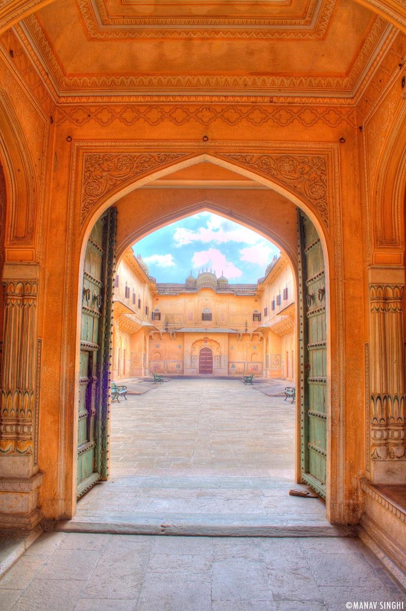 Main Entrance Gate of Madhavendra Palace, Nahargarh Fort, Jaipur.