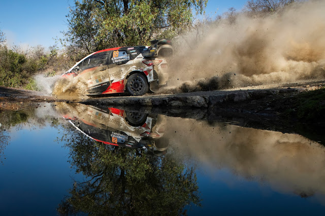 WRC Rally Mexico Water crossing