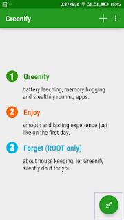 Menggunakan Greenify
