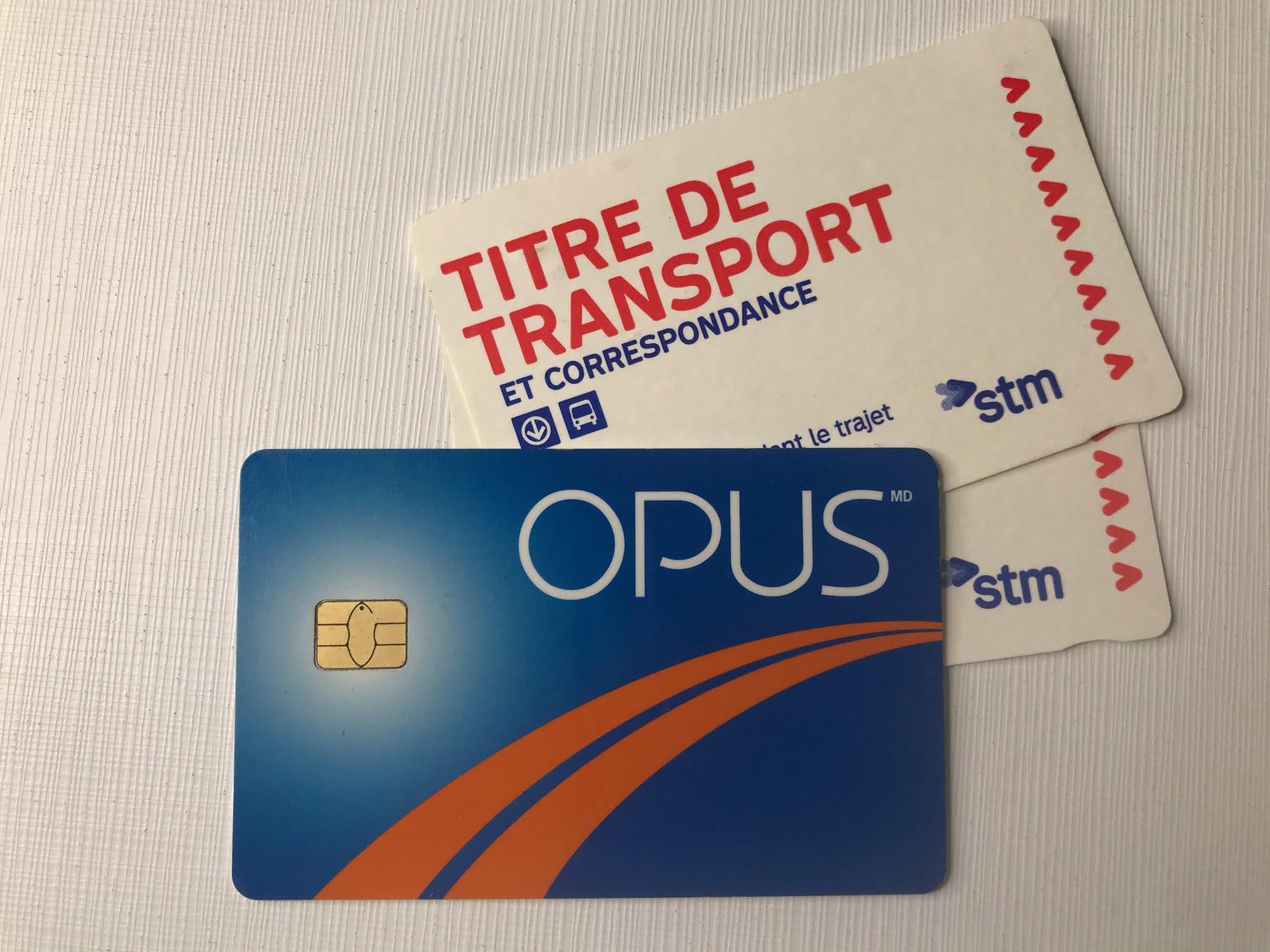 Cartão OPUS Montreal