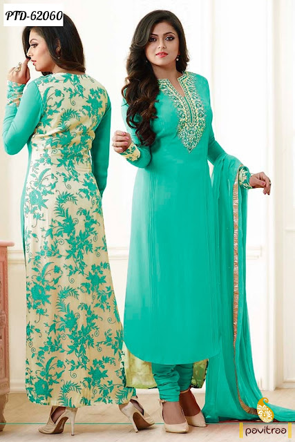 Madhubala Tv actress Drashti Dhami light green chiffon designer dresses collection online at low price
