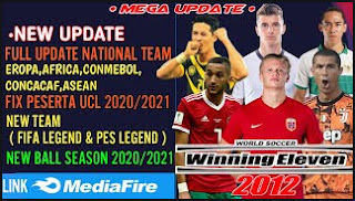 Download Winning Eleven 2012 MOD 2021 New Player National Team & Jersey 3D