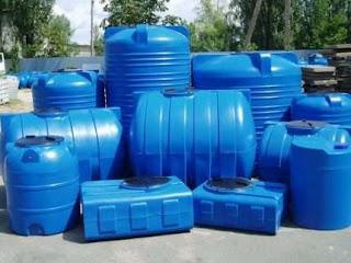 Műanyag ivóvíztároló tartály