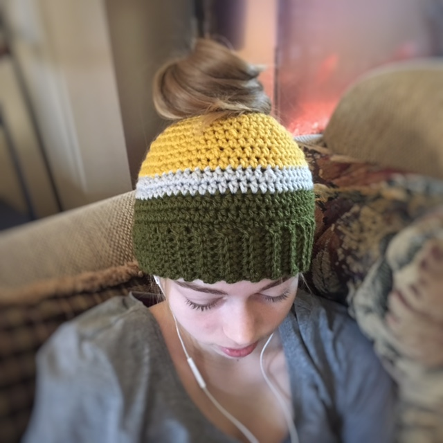 f533f84c57a5b Here s a free pattern (below) to make your own Messy Bun Hat. If you prefer  the printable pdf