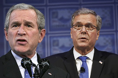 George W. Bush (left) and former Florida Gov. Jeb Bush (right)