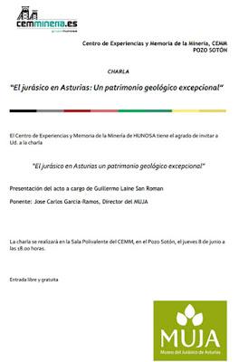 Charla sobre el Jurásico asturiano en el Pozo Sotón