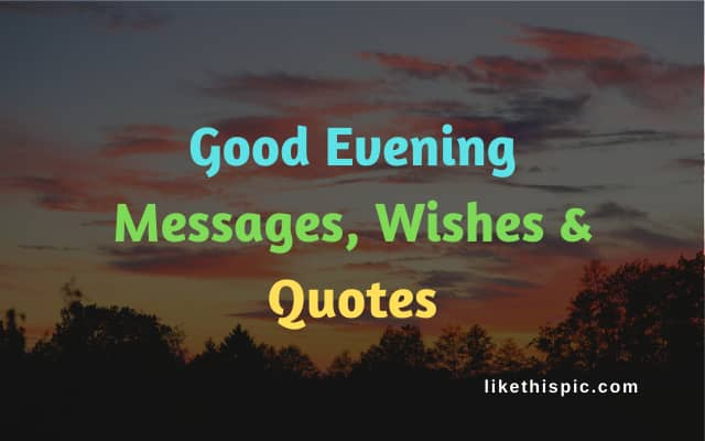 Good Evening Messages, Wishes & Quotes
