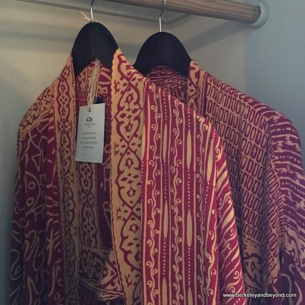 batik guest robes at Tradewinds Carmel in Carmel, California