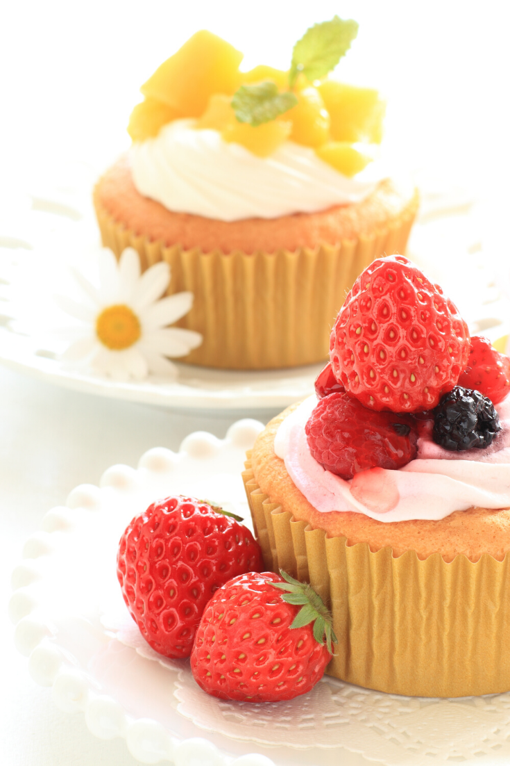 Lemon #Cupcakes with Blackberry Cream #Cheese one of the best #dessert that you can give it to your child as snacks after they come from school #desserts | #recipes #dessertrecipes #dessertrecipeseasy #deliciousdesserts #ketodessertrecipes