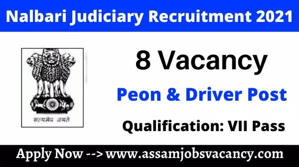 Nalbari Judiciary Recruitment 2021