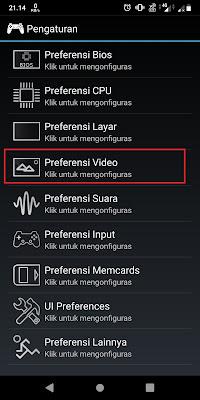 Pilih pengaturan Video atau Preferensi Video.