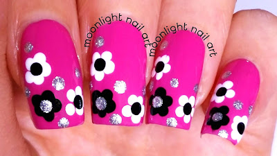 Easy Flowers Dotting Tool Nail Design