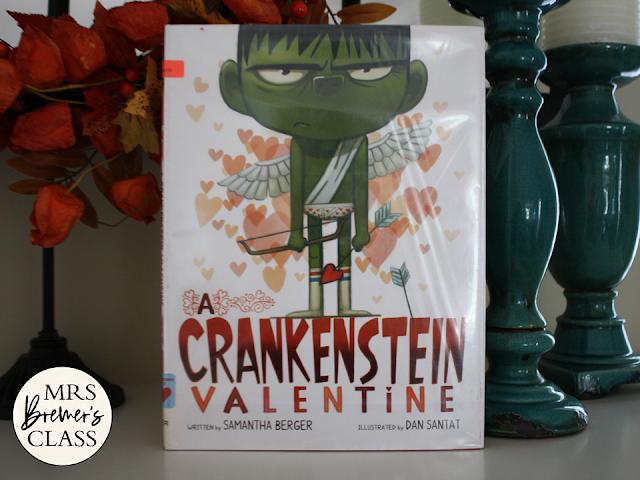 A Crankenstein Valentine book study companion activities with craftivity K-1