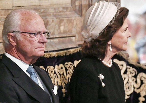 King Carl XVI Gustaf, Queen Silvia, Crown Princess Victoria, Prince Daniel, Prince Carl Philip and Princess Sofia at Riksdag
