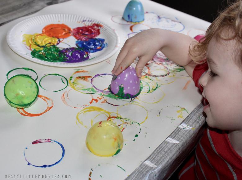 plastic Easter egg painting