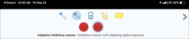 Adaptive inhibitory neuron