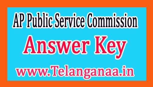 APPSC AE Screening Test Answer Key 2018