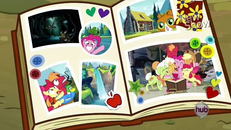 One of Pinkie's scrapbooks