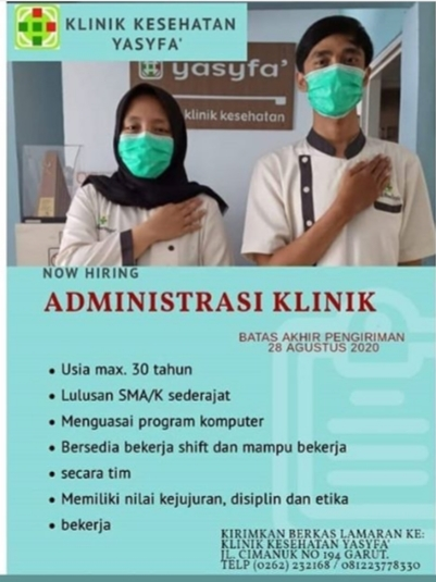 Lowongan Kerja Bagian Administrasi Klinik Yasyfa Garut ...