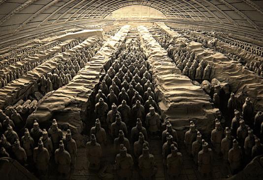 Patung terakota pada masa Dinasti Qin