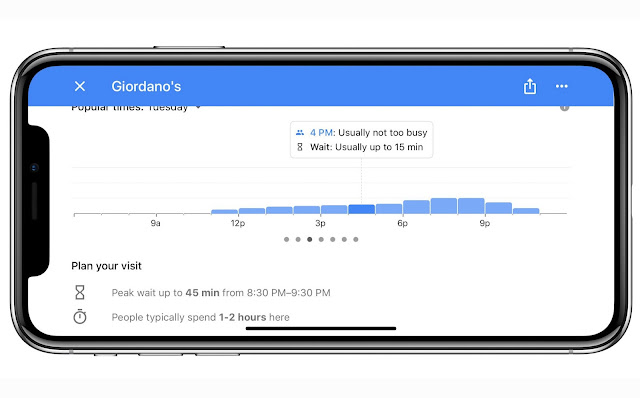 google-maps-restaurant-wait-times