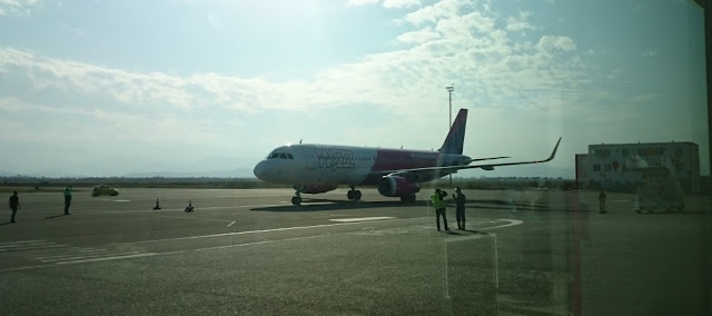 Wizzair-Maschine in Kutaissi