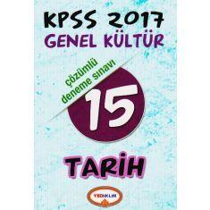 Yediiklim KPSS Genel Kültür Tarih 15 Çözümlü Deneme Sınavı (2017)