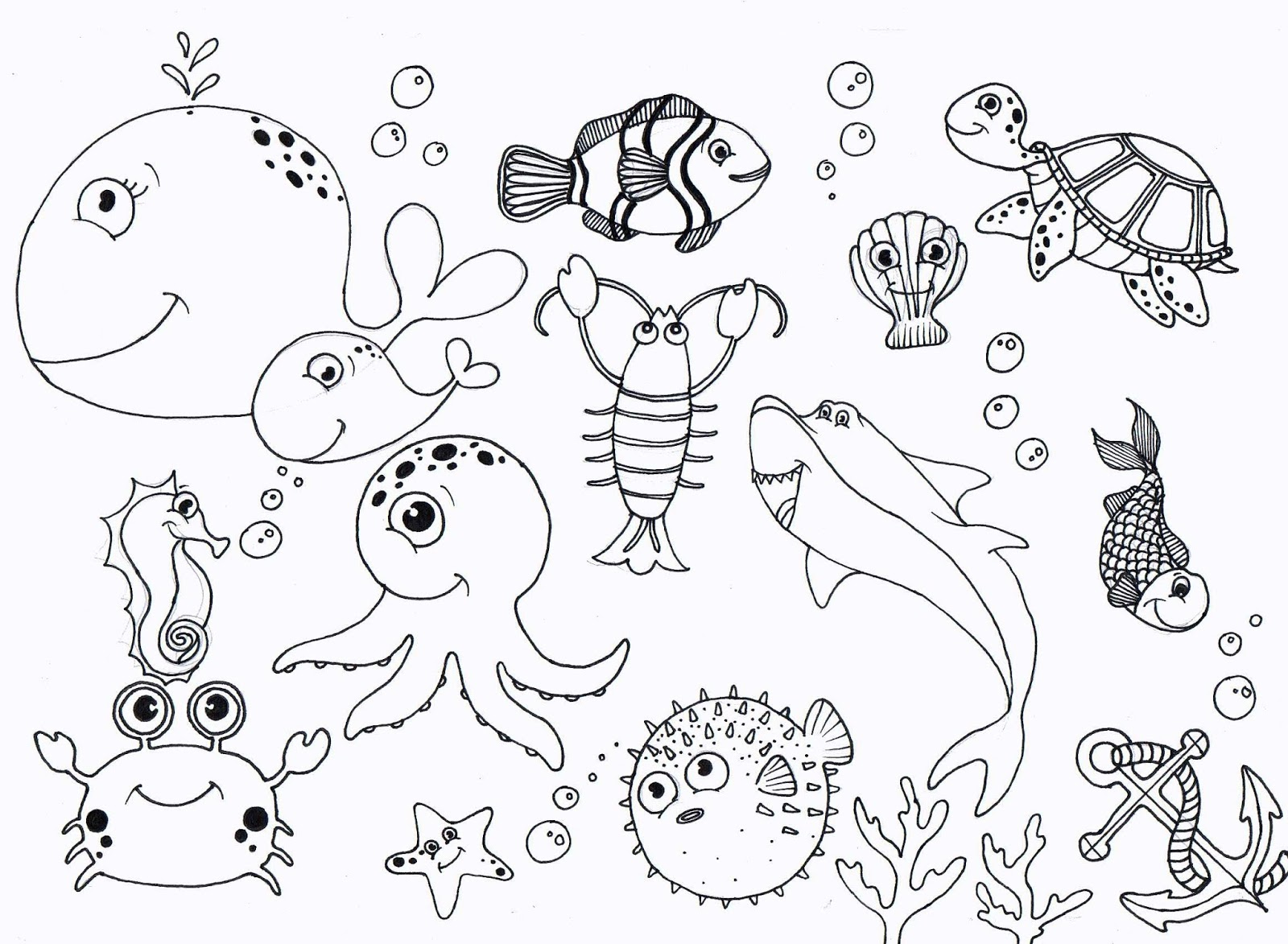 coloring pages under the sea ocean themed