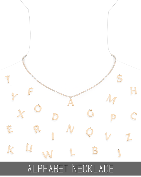 ALPHABET NECKLACE COLLECTION (PATREON)