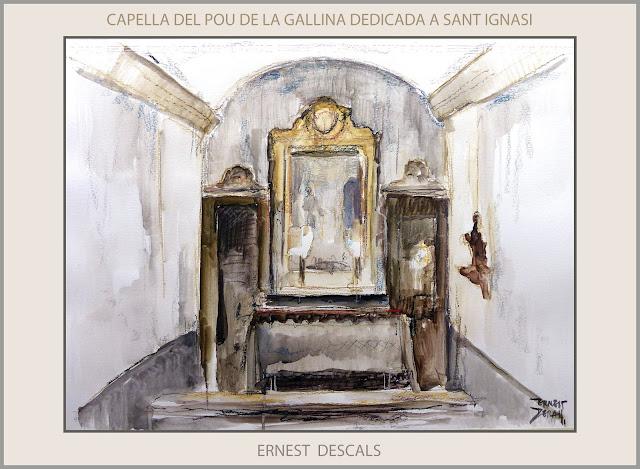 POU DE LA GALLINA-CAPELLA-SANT IGNASI-PINTURA-MANRESA-ART-RUTA IGNASIANA-PINTURES-ARTISTA-PINTOR-ERNEST DESCALS-