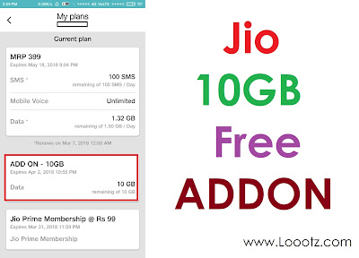 How to Get Jio 10GB Free Add On