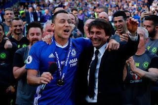 Antonio Conte praise Chelsea legend John Terry professionalism during his title-winning first season
