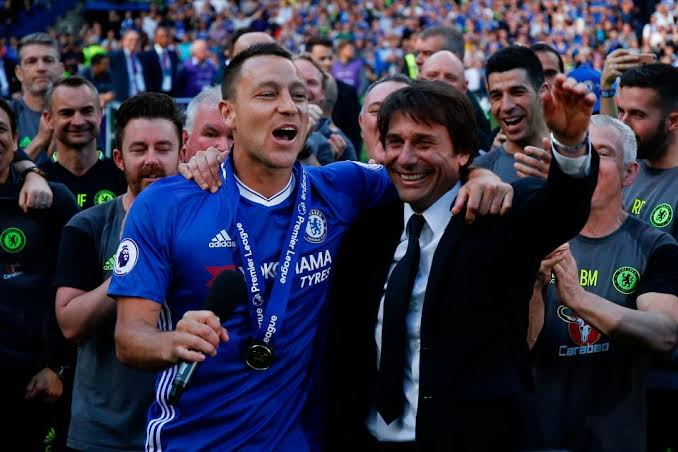Antonio Conte praise Chelsea legend John Terry professionalism during his title-winning first season