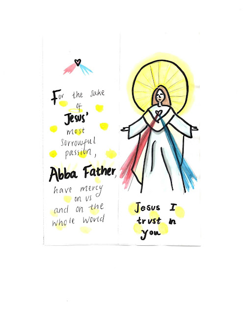 Template to make a Divine Mercy Bookmark