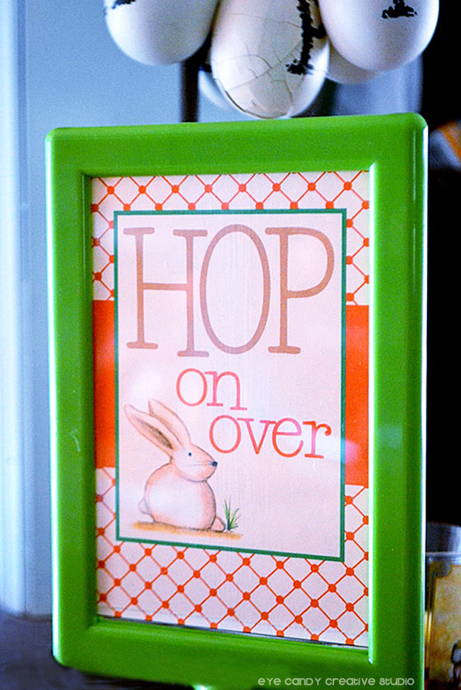natural colors, hop on over, orane & green, spring colors, bunny