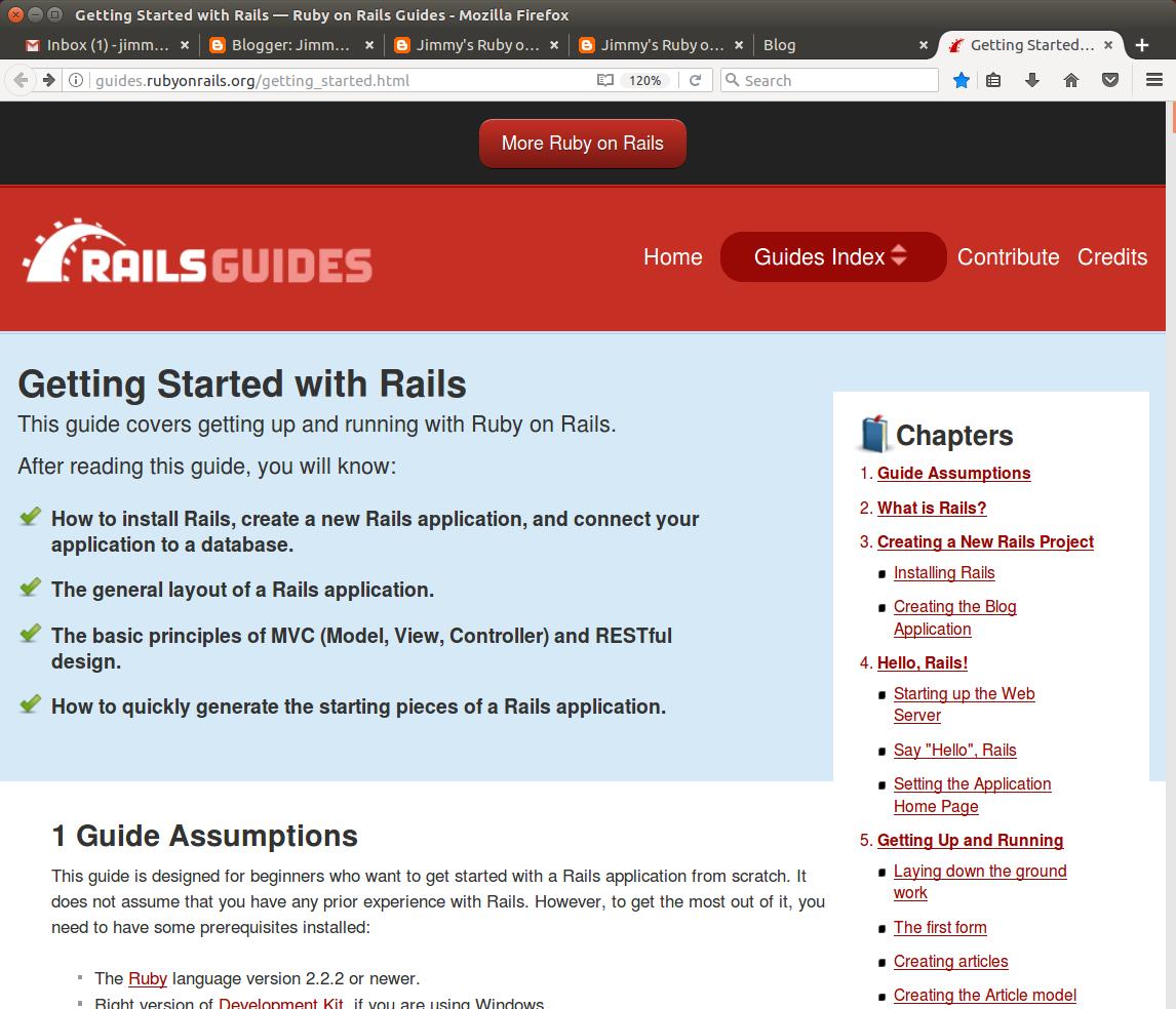 Jimmy's Ruby on Rails Quest: April 2017