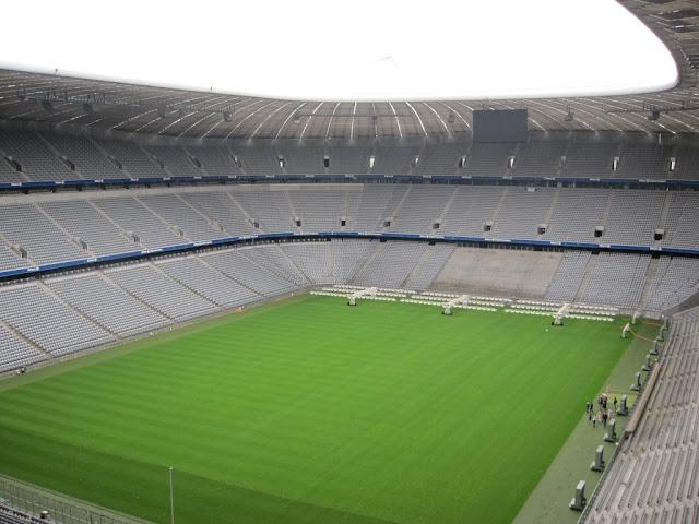 Österreich Amigos Unidos, Allianz arena Innen neu, panoramabild Allianz arena Innen, Allianz arena innenraum