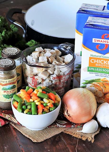 Quick Turkey Noodle Soup Ingredients Image