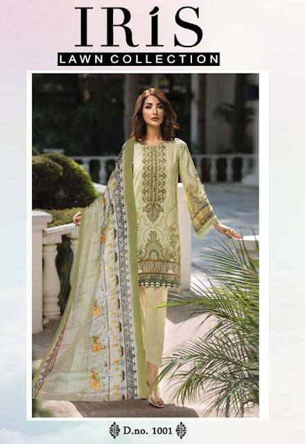 Iris Lawn Pakistani Dress Material Collection