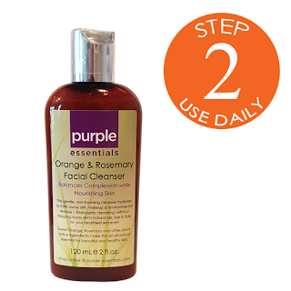 Purple Essentials' All Natural Orange & Rosemary Facial Cleanser