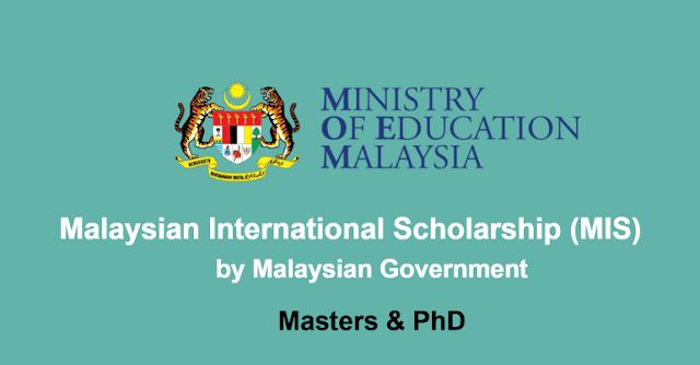 منحة الحكومة الماليزية لدراسة الماجستير والدكتوراه (ممولة بالكامل )