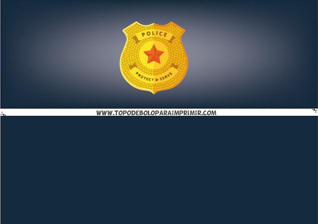faixa lateral policial para imprimir