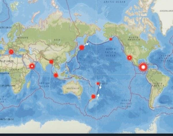 ALERTAS:  nuevas zonas de alto riesgo sísmico para los próximos días.