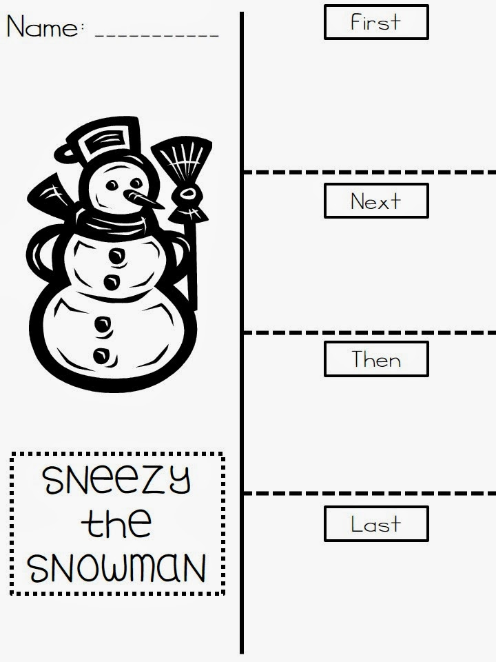 The Very Busy First Graders: Sneezy the Snowman Freebie