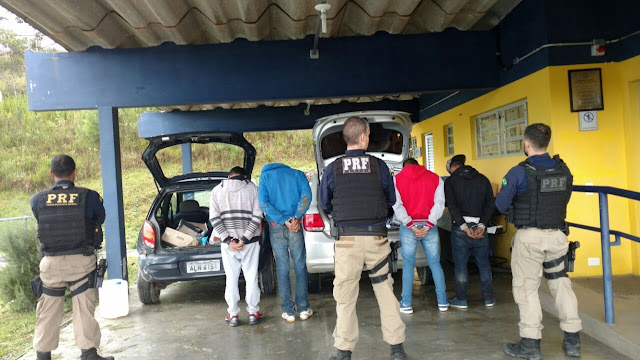 PRF prende quadrilha que praticava roubo de cargas na BR-116